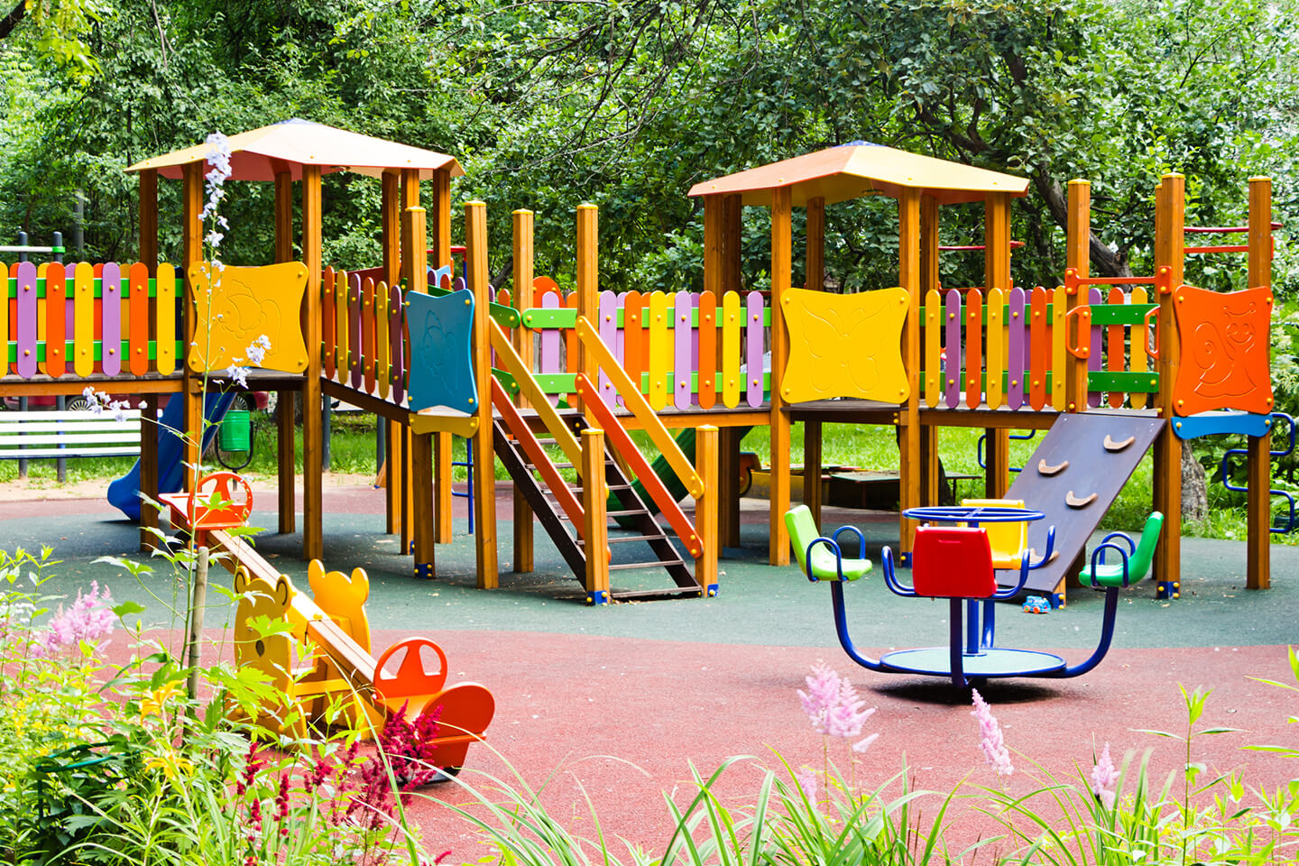 Childrens playground at a childcare center in the North Shore of Sydney